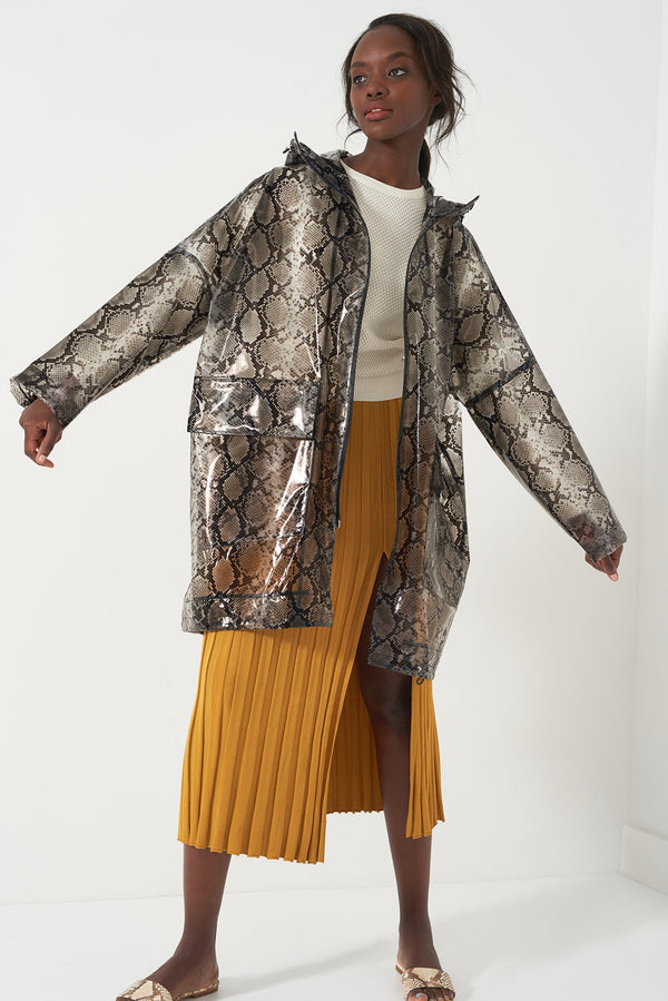 HONOR SNAKESKIN - Oversized Raincoat