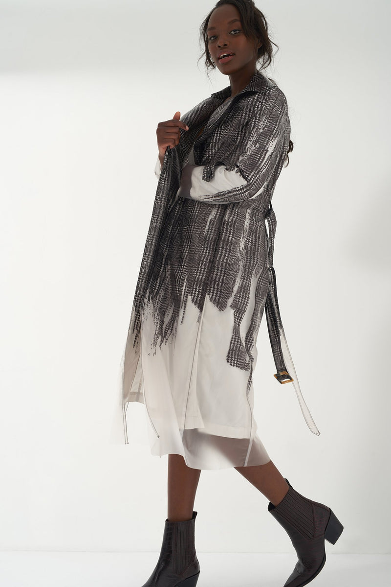 HAVEN - Printed Transparent Trench Coat