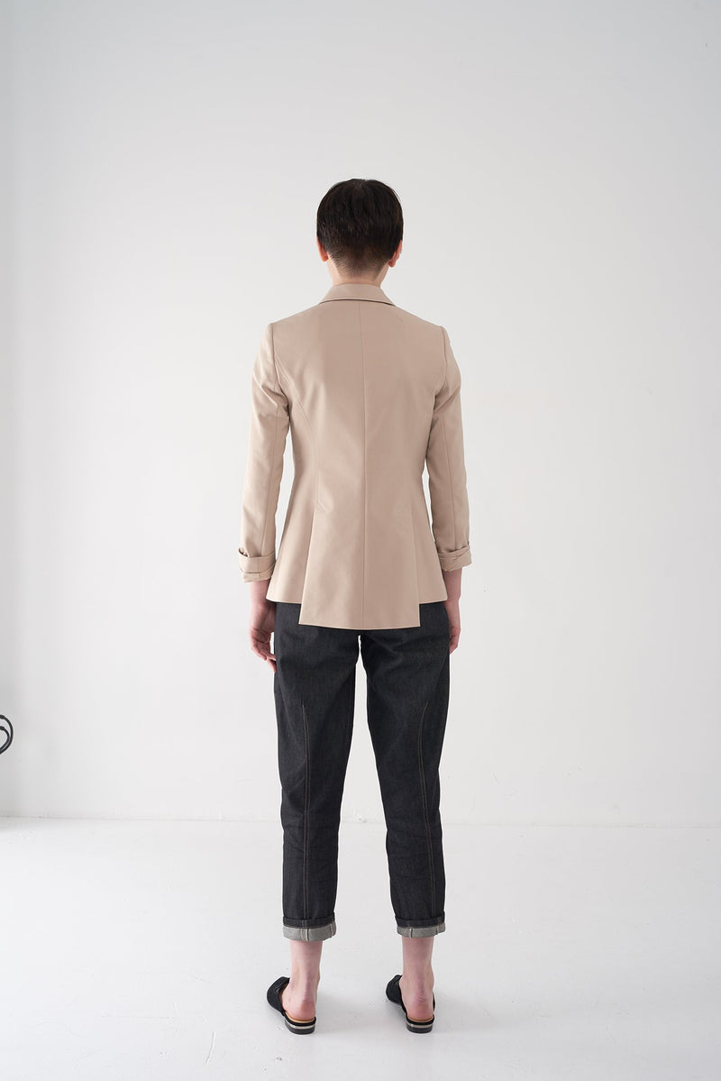 FRANK - NVLT Latte Cotton-Blend Stretch Blazer - Søsken Studios