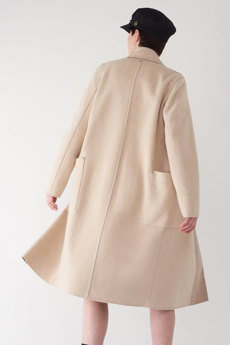 BELLA CAMEL - Brushed Knit Coat