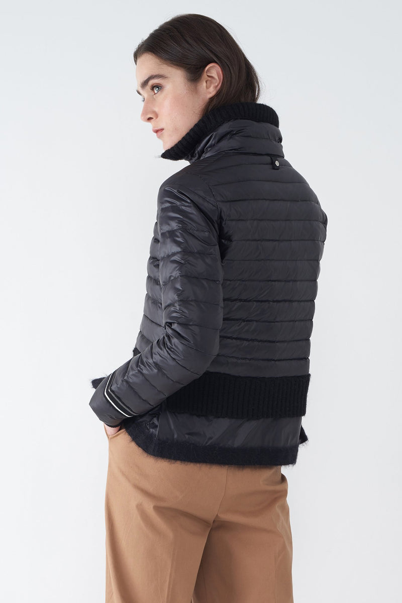 BEV BLACK - LIGHTWEIGHT PUFFER JACKET