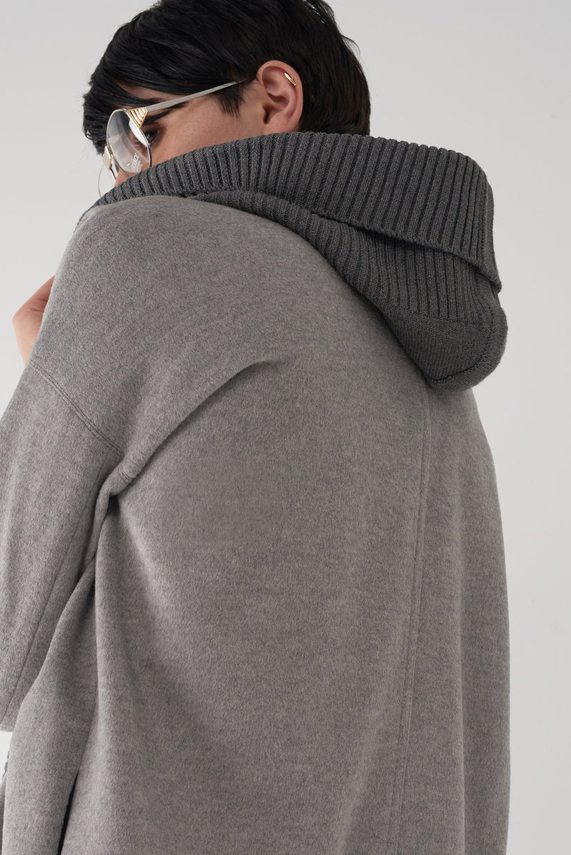 BRANDY GREY - Brushed Knit Jacket