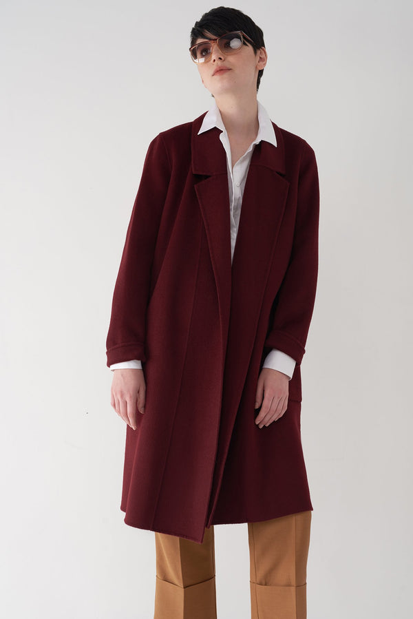 ELLIE OXBLOOD - Cashmere Blend Coat