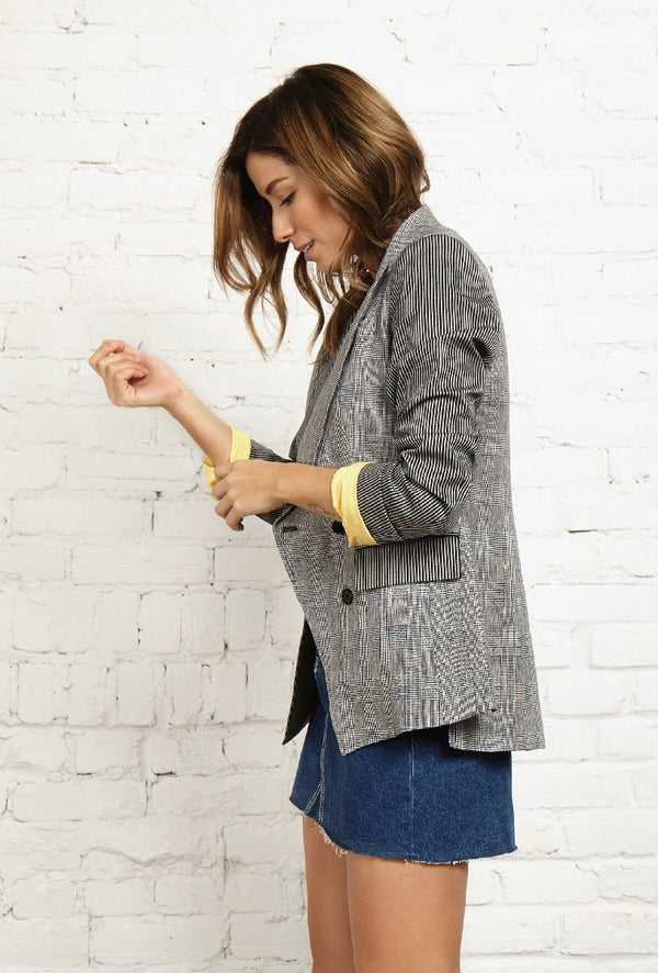 FABY - NVLT Double Breasted Cotton-Blend Blazer - Søsken Studios