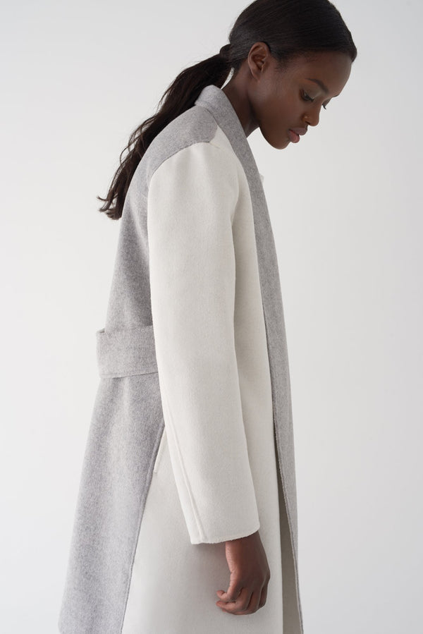 GLORIA WHITE - Double Face Brushed Knit Jacket