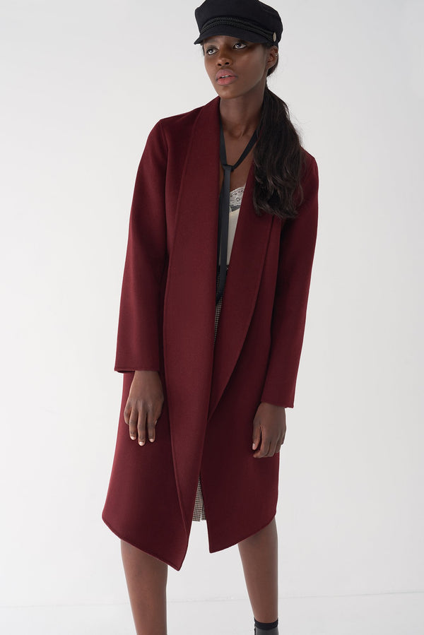 GLORIA OXBLOOD - Cashmere Blend Jacket