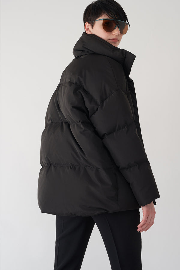 GLORY BLACK - Cocoon Puffer Jacket