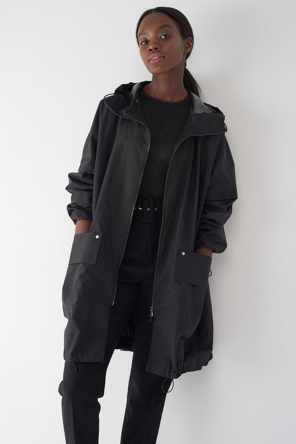 GWEN BLACK - Packable Oversized Raincoat
