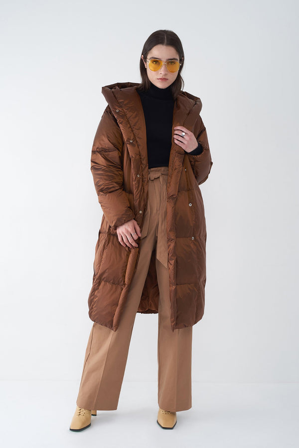 JANIS BRONZE - OVERSIZED LONG DOWN COAT