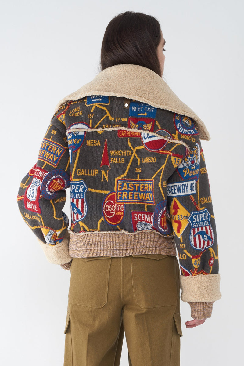 JANUARY - ROAD MAP KNIT JACKET