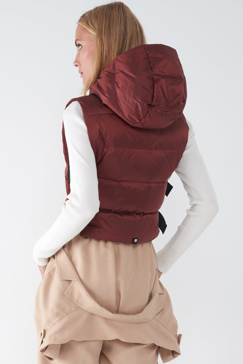 JOY RED - IRIDESCENT DOWN VEST