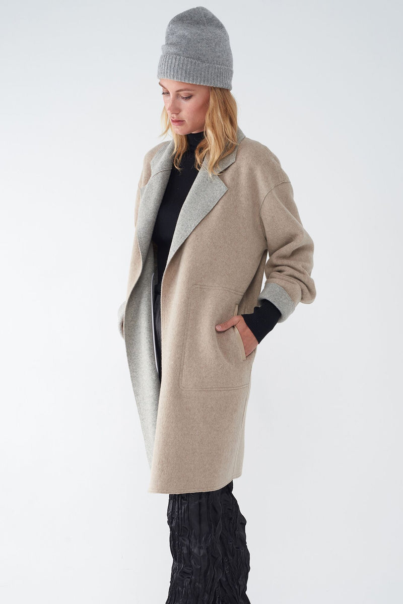JULIET OATMEAL - OVERSIZED BRUSHED KNIT DUSTER