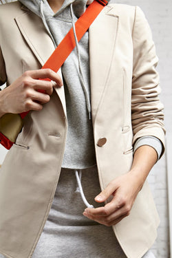 FRANK - NVLT Latte Cotton-Blend Stretch Blazer