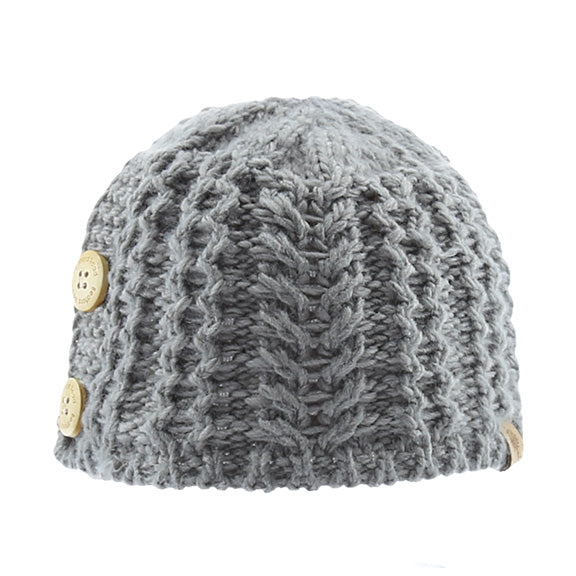 Knitted Beanie Side Buttons