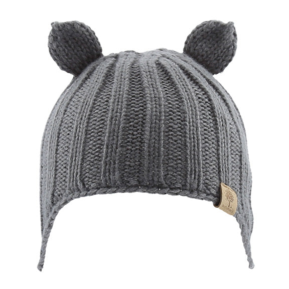 Knitted Beanie with Ear Cover - aroundthecrib