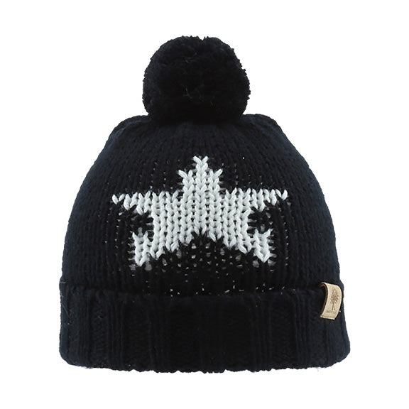 Knitted Beanie with Star - aroundthecrib