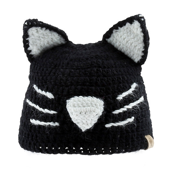 Knitted Beanie Kitty - aroundthecrib