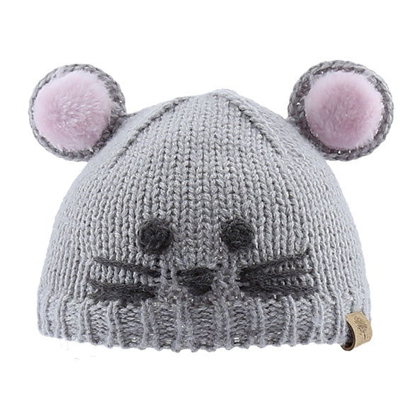 Knitted Beanie Mouse - aroundthecrib