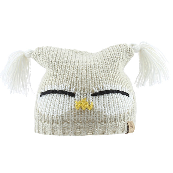 Knitted Beanie Square Owl - aroundthecrib