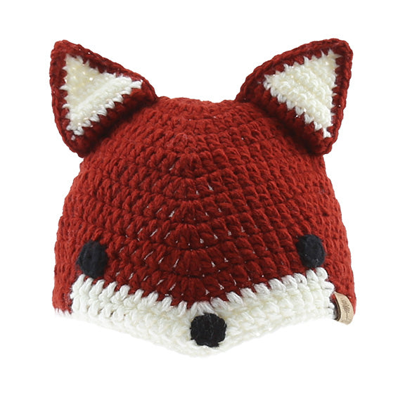 Knitted Beanie Fox - aroundthecrib