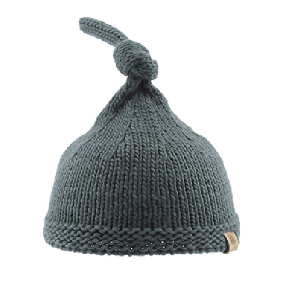 Knitted Beanie with Knot - aroundthecrib