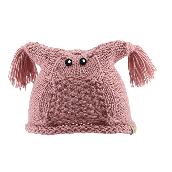 Knitted Square Owl Beanie - aroundthecrib