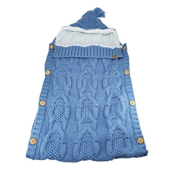 baby pouch, baby sack, knitted sack, baby accessories, baby winter, baby hat