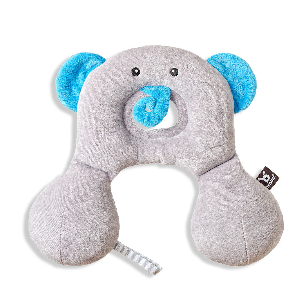 Total Support Headrest 0-12 - Elephant - aroundthecrib