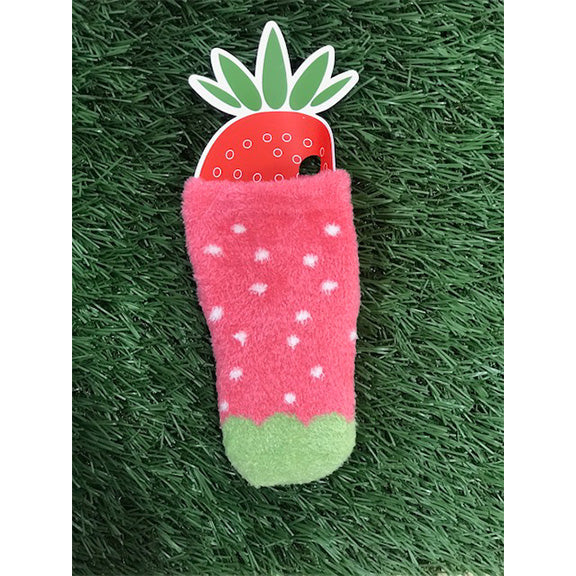Fruit Socks - Pink Strawberry - aroundthecrib