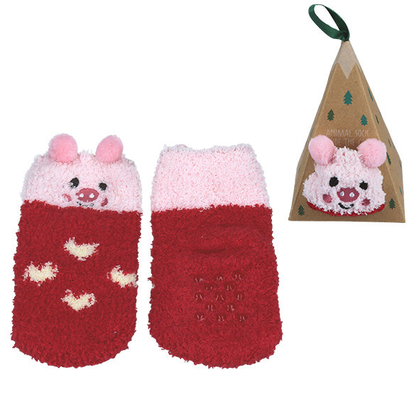Triangle Socks - Pink - aroundthecrib