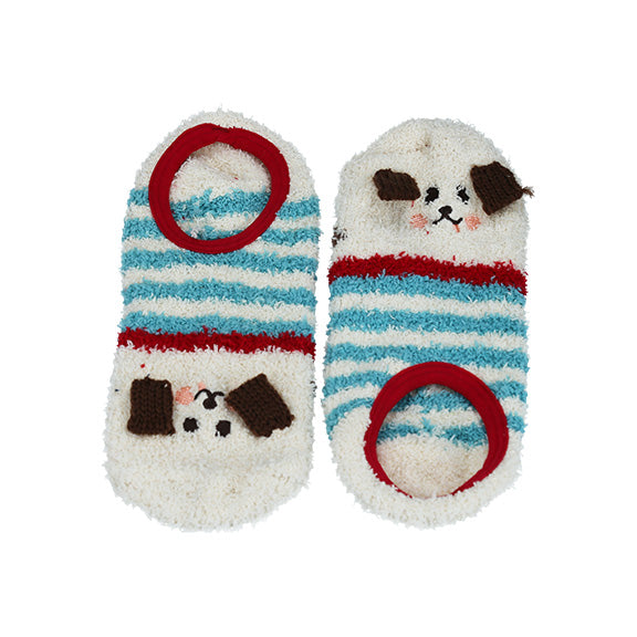 Animal Socks - Turquoise Stripe - aroundthecrib