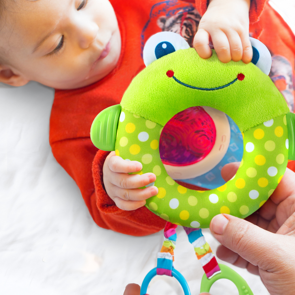 Dazzle Friends - Rattle Toy - Frog