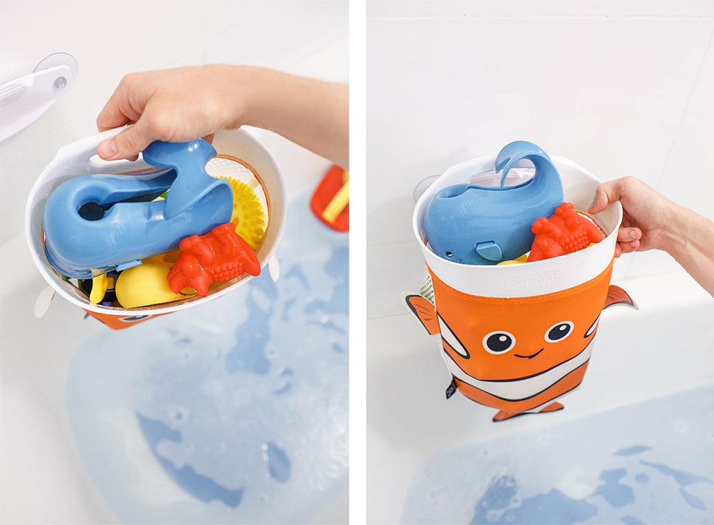 Scoop & Store Bath Toy Organizer Captain Nemo - aroundthecrib
