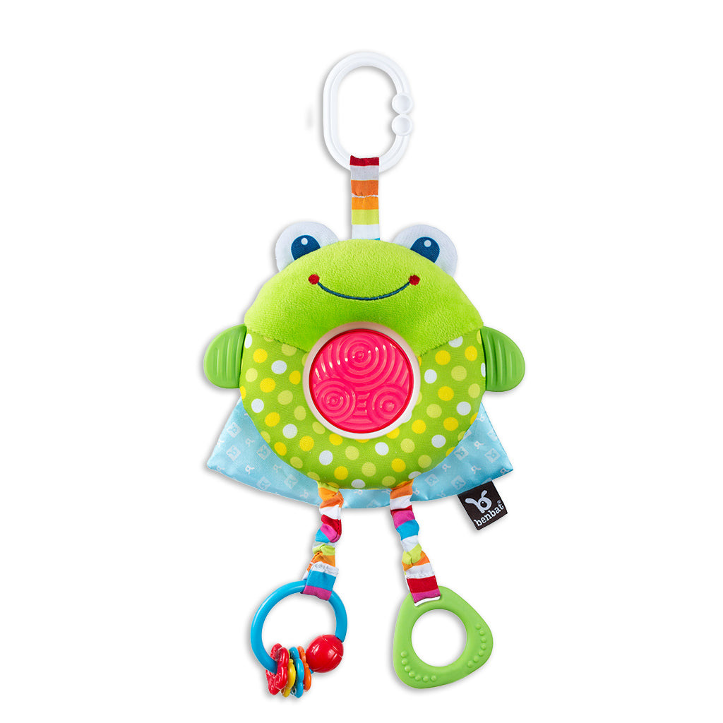 Dazzle Friends - Rattle Toy - Frog - aroundthecrib