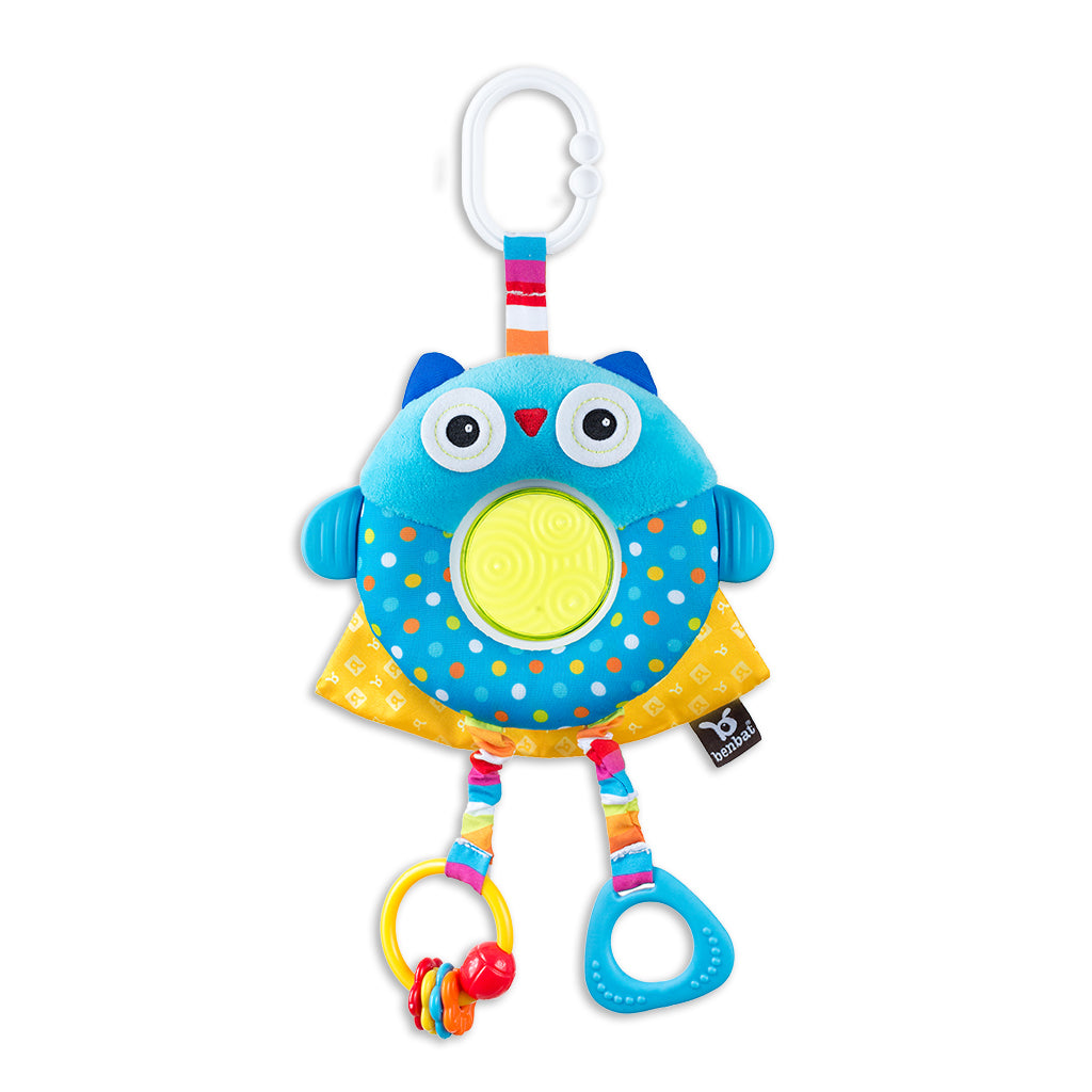 Dazzle Friends - Rattle Toy - Owl - aroundthecrib