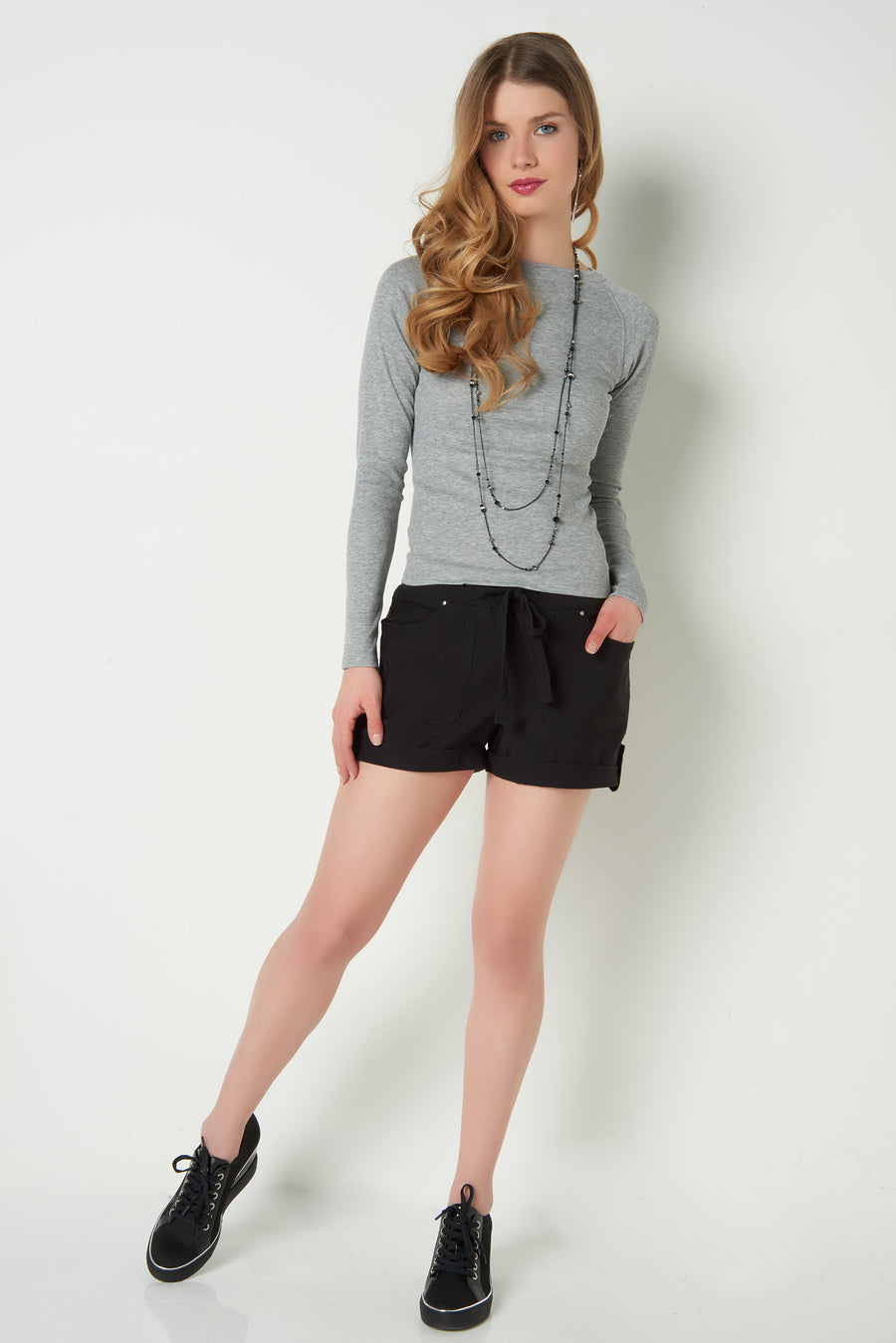 EVERLY - Long sleeve ribbed top (10277LS) (R-A12)