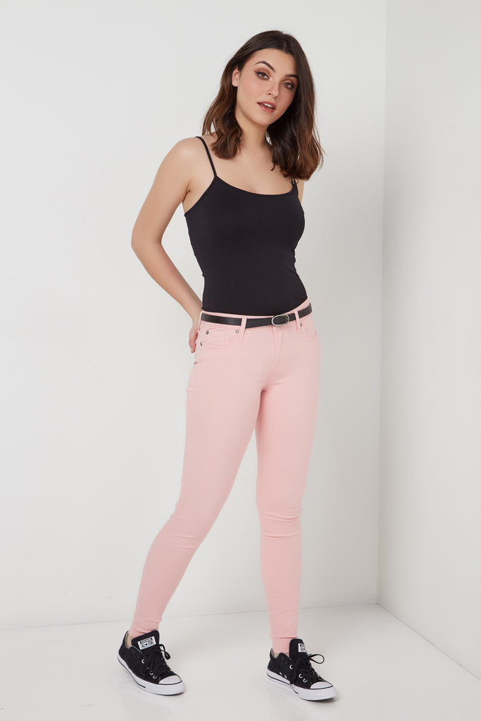 PINK rosie Skinny jean ultra doux COLORI