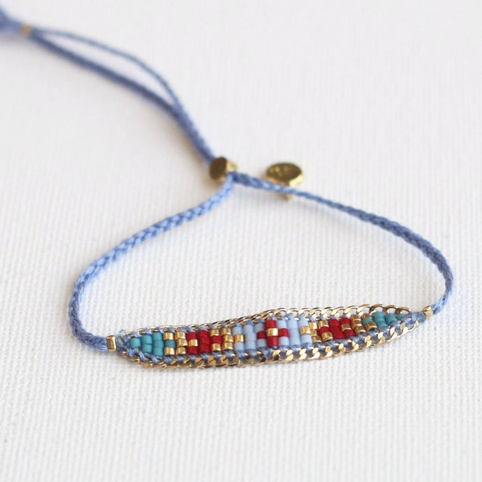 Light blue bracelet Akkilou jewelry eshop
