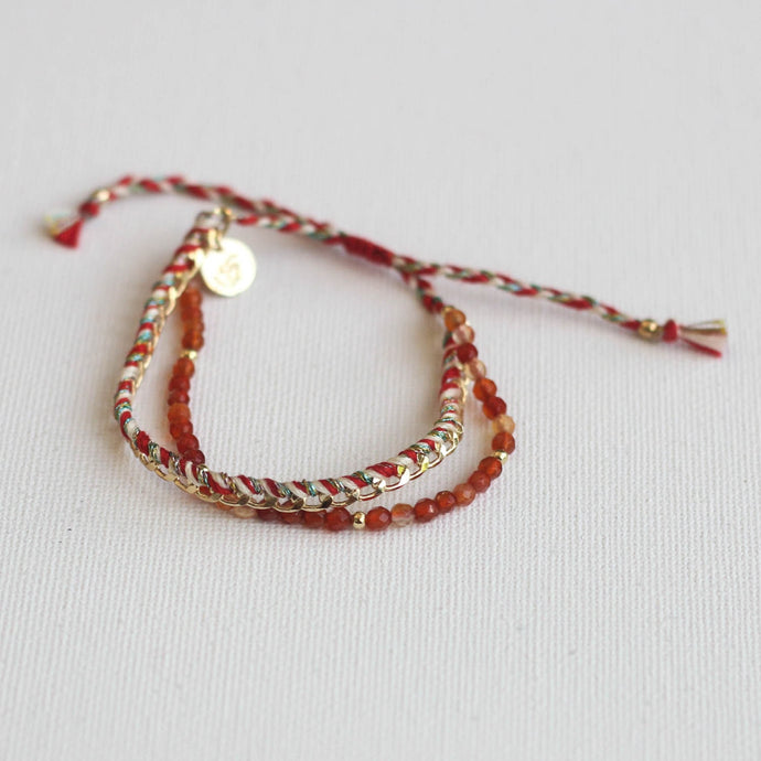 Double row bracelet Akkilou jewelry eshop