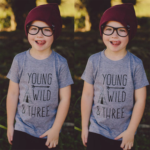 Wild and Three Toddler Tribe T-Shirt