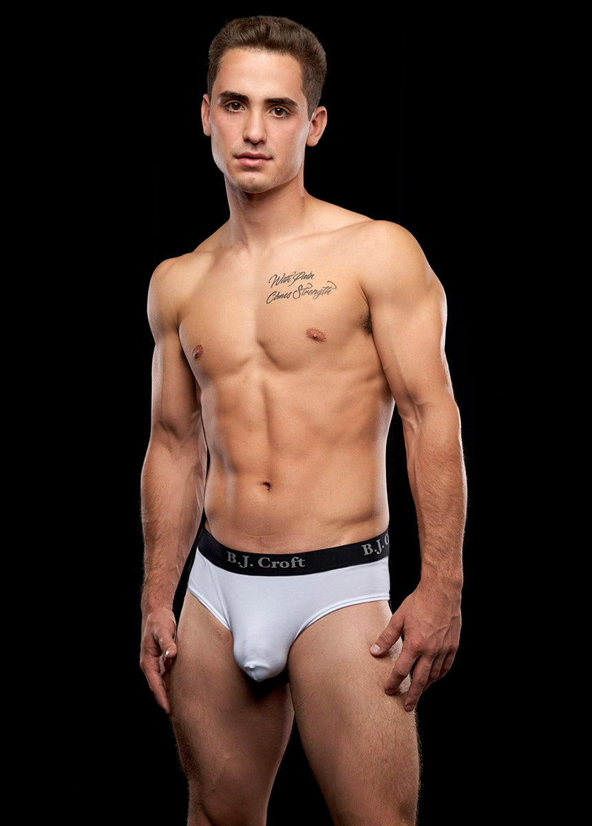 B.J. Croft Classic Brief - White