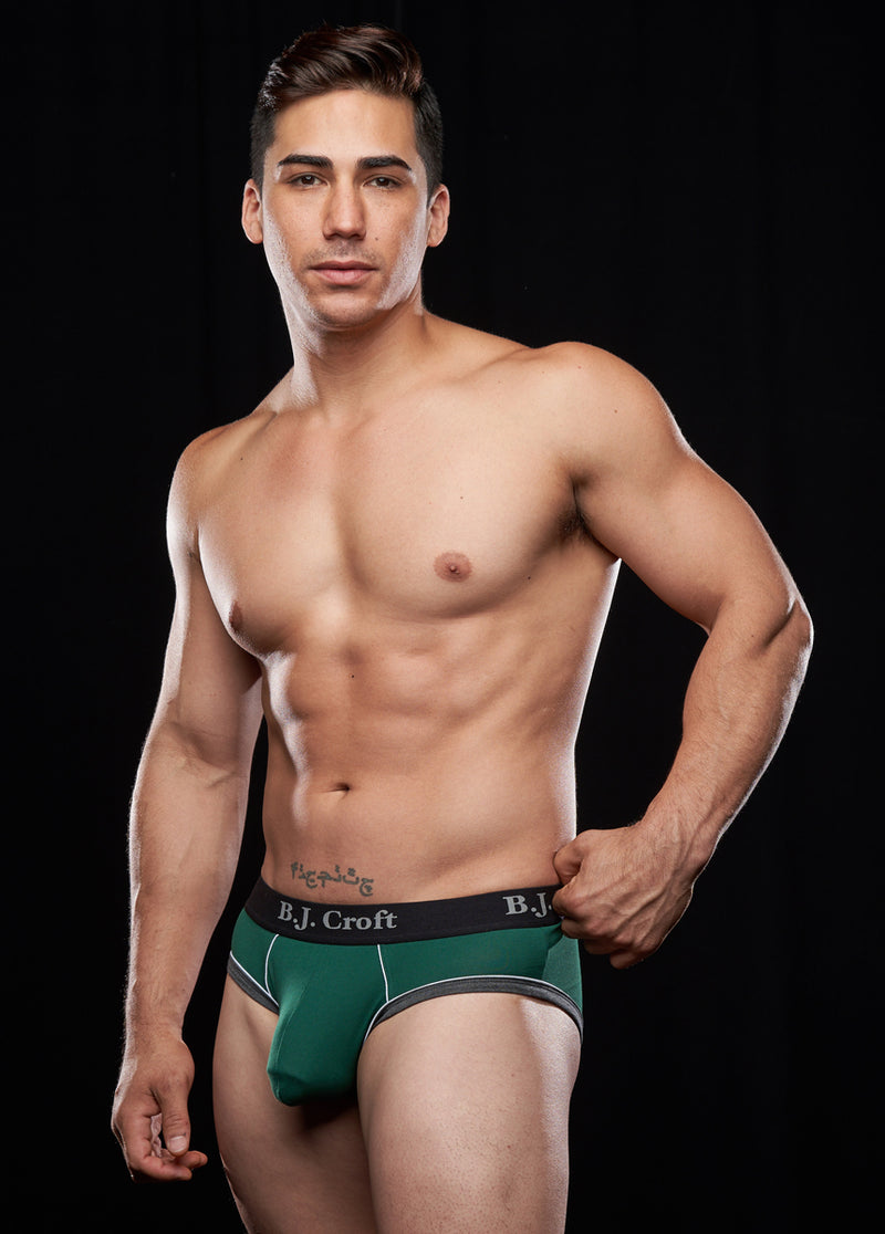 Nikko Brief: Dark Green