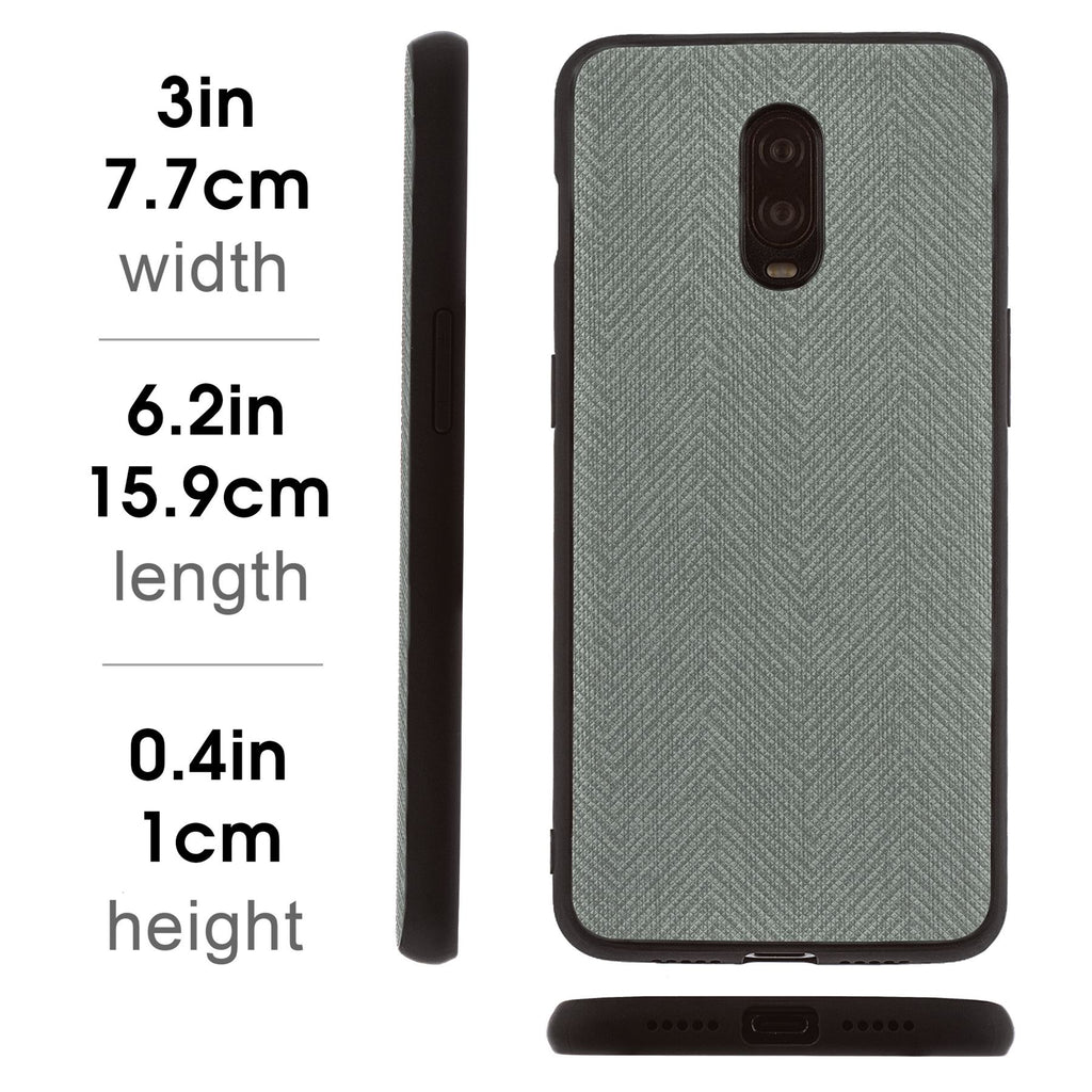 Lilware Canvas Z Rubberized Texture Plastic Phone Case for OnePlus 6T. Grey