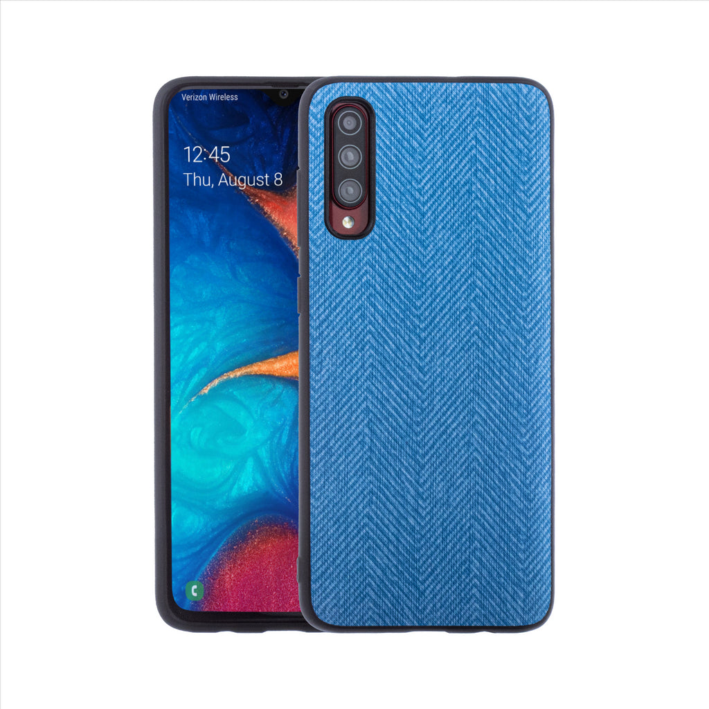 Lilware Canvas Z Rubberized Texture Plastic Phone Case for Samsung Galaxy A70/A70S. Blue