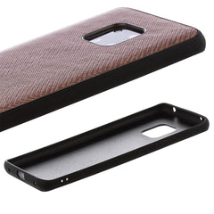 Lilware Canvas Z Rubberized Texture Plastic Phone Case Compatible with Huawei Mate 20 Pro. Brown