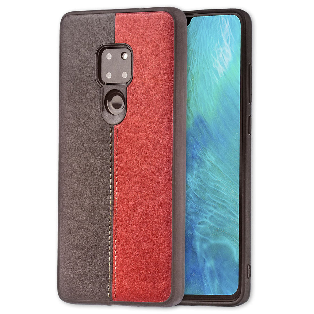 Lilware Bicolor PU Leather Phone Case Compatible with Huawei Mate 20. Red / Black