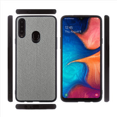 Lilware Canvas Z Rubberized Texture Plastic Phone Case for Samsung Galaxy A20S. Dark Grey