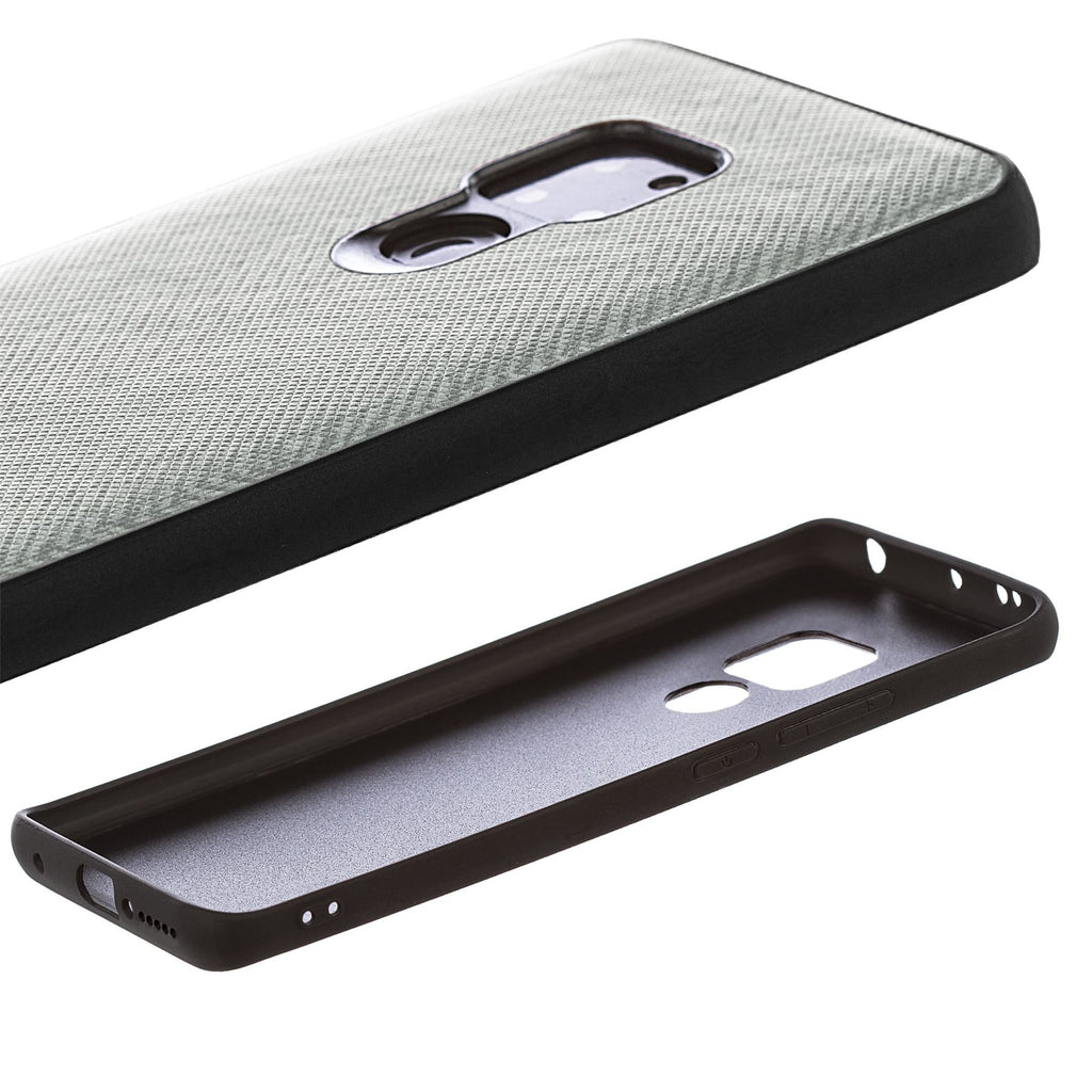 Lilware Canvas Z Rubberized Texture Plastic Phone Case Compatible with Huawei Mate 20. Grey
