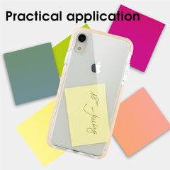 Xcessor Clear Hybrid TPU Phone Case for Apple iPhone XR. With Shock Absorbing Inner Rubber Layer on the Edges. Clear / Pastel Peach