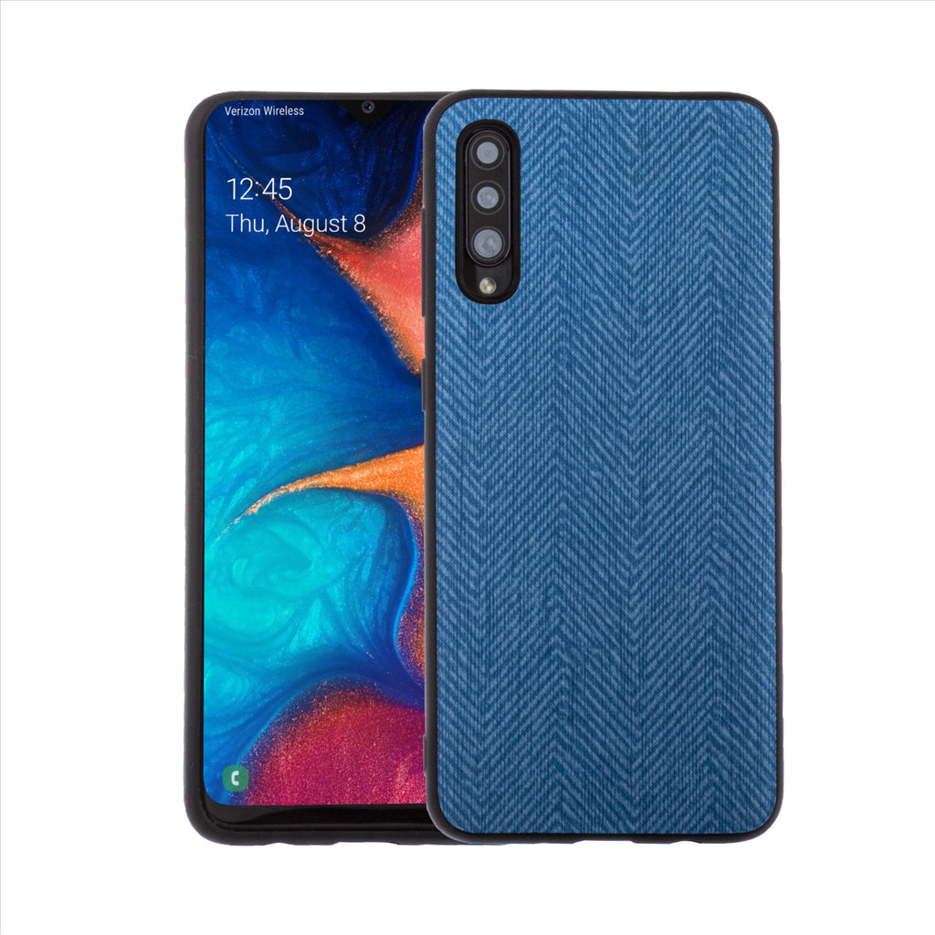 Lilware Canvas Z Rubberized Texture Plastic Phone Case for Samsung Galaxy A50/A50S. Blue
